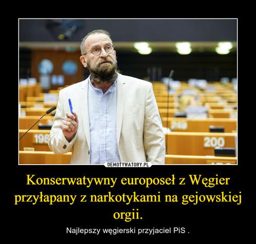 Konserwatywny europoseł z Węgier przyłapany z narkotykami na gejowskiej orgii.