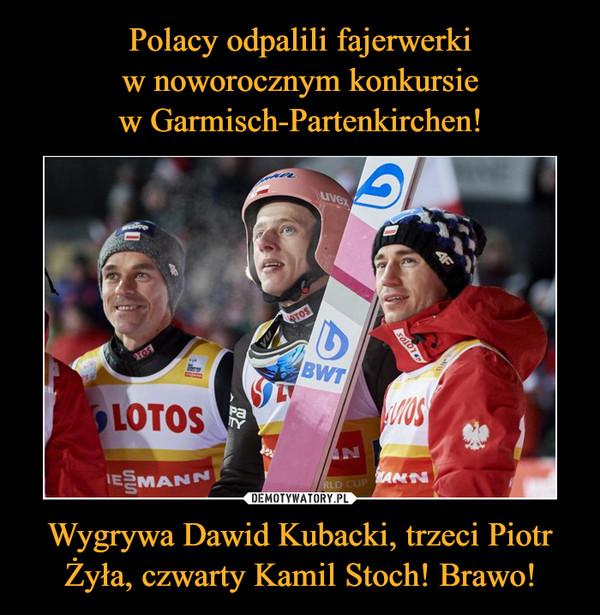 Wygrywa Dawid Kubacki, trzeci Piotr Żyła, czwarty Kamil Stoch! Brawo! –