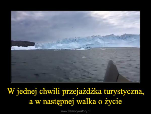 W jednej chwili przejażdżka turystyczna, a w następnej walka o życie –  Potęga lodowca