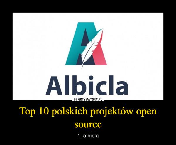 Top 10 polskich projektów open source – 1. albicla