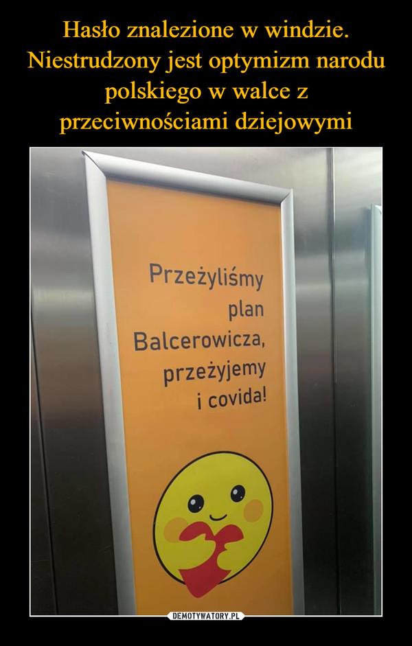 –  Przeżyliśmy plan Balcerowicza, przeżyjemy i covida!