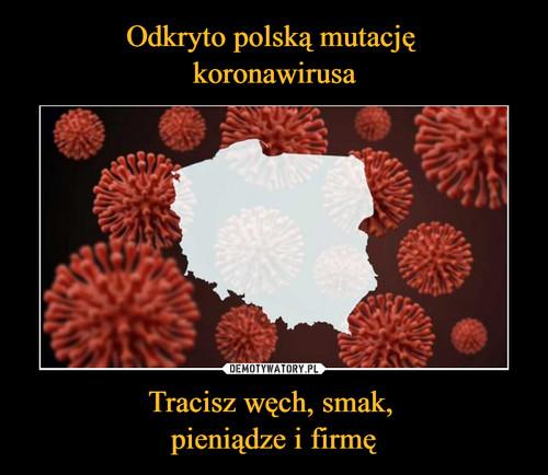 Odkryto polską mutację  koronawirusa Tracisz węch, smak,  pieniądze i firmę