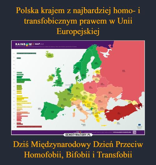 Polska krajem z najbardziej homo- i transfobicznym prawem w Unii Europejskiej Dziś Międzynarodowy Dzień Przeciw Homofobii, Bifobii i Transfobii