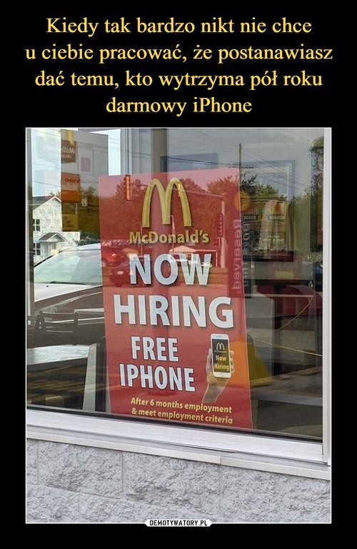 Kiedy tak bardzo nikt nie chce u ciebie pracować, że postanawiasz dać temu, kto wytrzyma pół roku darmowy iPhone