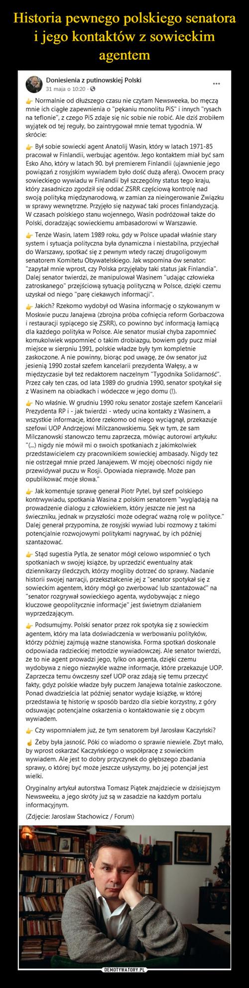 Historia pewnego polskiego senatora i jego kontaktów z sowieckim agentem