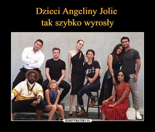 Dzieci Angeliny Jolie  tak szybko wyrosły