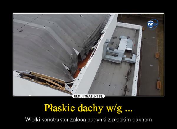 Płaskie dachy w/g ... – Wielki konstruktor zaleca budynki z płaskim dachem