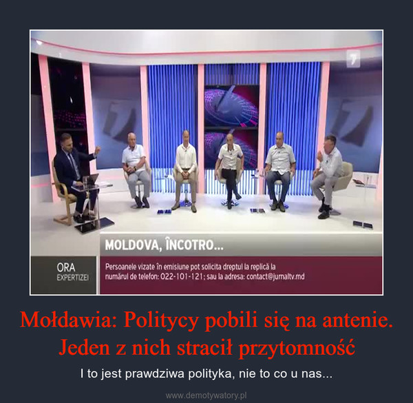Mołdawia: Politycy pobili się na antenie. Jeden z nich stracił przytomność – I to jest prawdziwa polityka, nie to co u nas...